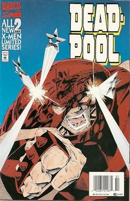 Deadpool Limited Series #2 from 1994 with Juggernaut on the cover
