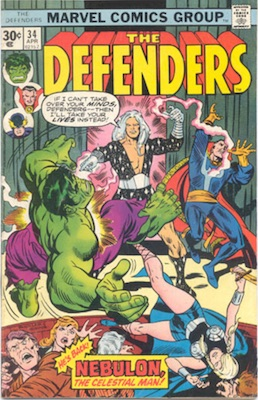 Defenders #34 Marvel Price Variant 30c Edition April, 1976. Regular Price Box