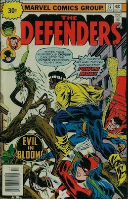 Defenders #37 Marvel 30c Cover Price Variant July, 1976. Regular Price Box
