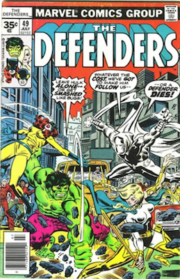 Defenders #49 Marvel 35c Price Variant