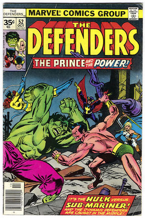 Defenders #52 35c Price Variant