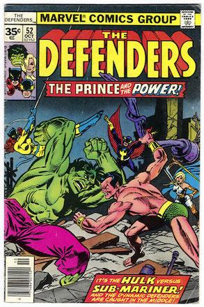 Defenders #52 35c Price Variant