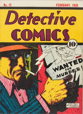 Super-stylish and rare cover of Detective Comics #12. Click for value