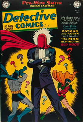 Origin and First Appearance, Red Hood, Detective Comics #168, DC Comics, 1951. Click for value