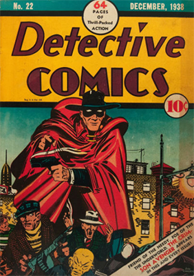 Detective Comics #22 has a cool western feel to its urban gangster theme. Click for value