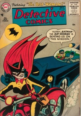 Detective Comics #233 (July 1956): first Batwoman. Click for values