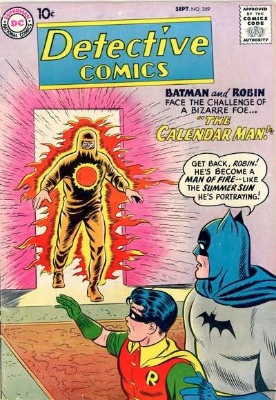 Origin and First Appearance, Calendar Man, Detective Comics #259, DC Comics, 1958. Click for value