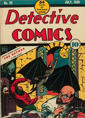 Detective Comics #29 (Jul 1939): Second Cover Appearance of Batman, Third Total Appearance. Click for values