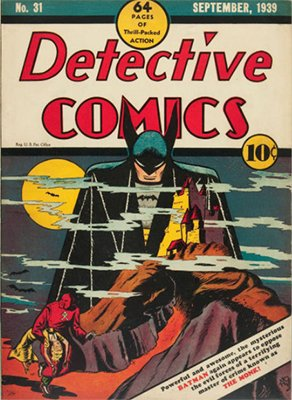 Detective Comics #31 (Sep 1939): Third Cover Appearance of Batman, Fifth Total Appearance. One of the Golden Age's most valuable comic books. Click for values