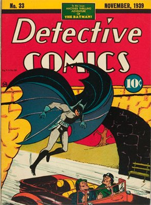 Detective Comics #33 (Nov 1939): Origin of Batman. Click for values