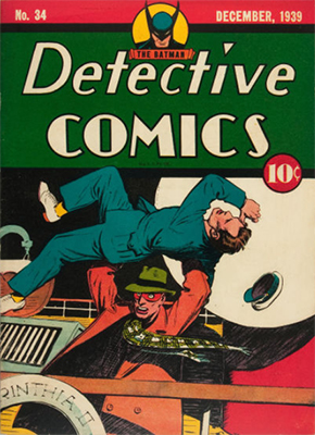 Detective Comics #34 is the last non-Batman cover image in the series. Click for value