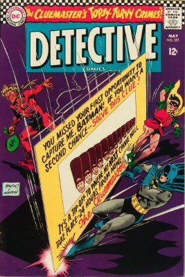Origin and First Appearance, Cluemaster, Detective Comics #351, DC Comics, 1966. Click for value
