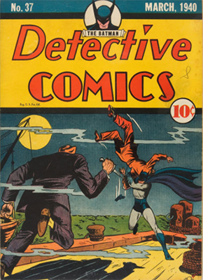 Another great combat cover on Detective Comics #37