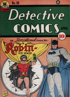 Detective Comics #38: Origin and First Appearance, Robin the Boy Wonder. Click for values