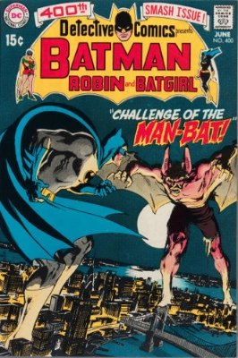Origin and First Appearance, Man-Bat, Detective Comics #400, DC Comics, 1970. Click for values