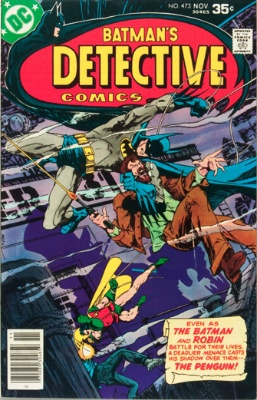 Penguin in the Pages of Detective: Detective Comics #473, November 1977. Click for value