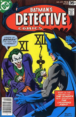 Detective Comics #475, Classic Joker Cover. Click for values