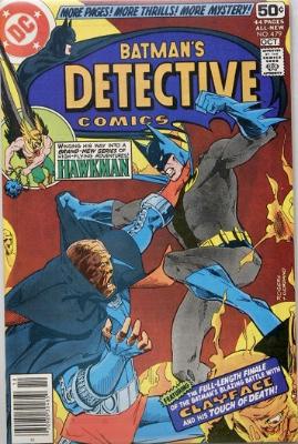 Origin and First Appearance, Fadeaway Man, Detective Comics #479, DC Comics, 1978. Click for value