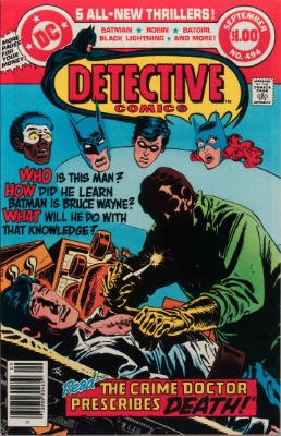 Origin and First Appearance, Cornelius Stirk, Detective Comics #494, DC Comics, 1988. Click for value