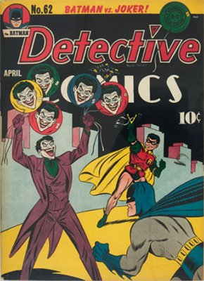 Detective Comics #62: Classic Joker cover. Click for values