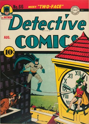 Origin and First Appearance, Two-Face, Detective Comics #66, DC Comics, 1942. Click for value