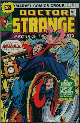 Doctor Strange #14 30 Cent Variant May, 1976. Starburst Flash