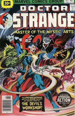 Doctor Strange #15 30c Variant Edition June, 1976. Starburst Flash