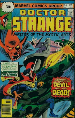 Doctor Strange #16 Marvel 30 Cent Price Variants July, 1976. Starburst Flash