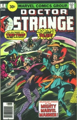 Doctor Strange #17 30 Cent Variant August, 1976. Circle Price