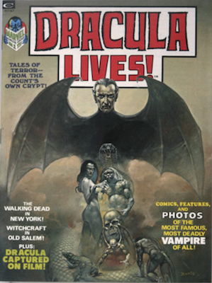 Dracula Lives! #1 (1973): Curtis magazine (Marvel): rare in high grade. Click for value