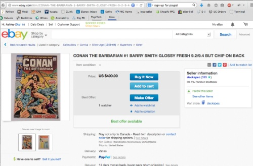 How to use our eBay comic book appraisal service