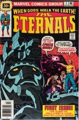The Eternals #1 Marvel 30c Price Variant June, 1976. Starburst Flash