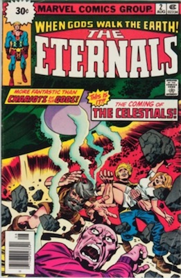 Eternals #2 30 Cent Variant Edition August, 1976. Starburst Box