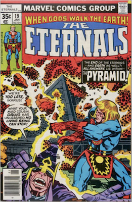 The Eternals #19: final issue. Click for values