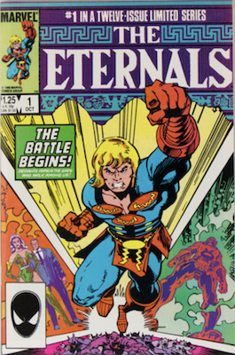 The Eternals Limited Series #1: First Appearance of Phastos. Click for values