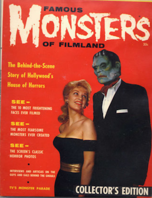 Famous Monsters of Filmland #1 (1958): First issue of the series of magazine-sized horror comics. Click for values