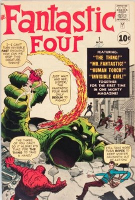Origin and First Appearance, Mole Man, Fantastic Four #1, Marvel Comics, 1961. Click for value