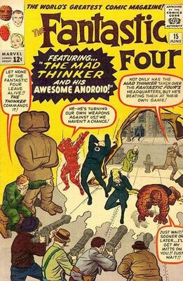 Origin and First Appearance, Mad Thinker, Fantastic Four #15, June, 1963. Click for value