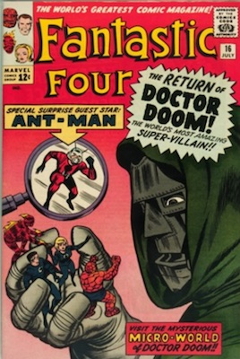 Fantastic Four #16: Ant-Man crossover. Click to read our FF comic book price guide