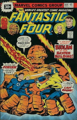 Marvel 30 Cent Price Variants: Fantastic Four #169 April, 1976. Starburst Flash