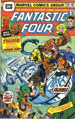 Fantastic Four #170 30 Cent Variant May, 1976. Price in Starburst