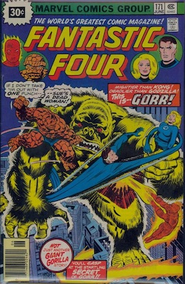 Fantastic Four #171 30 Cent Variant June, 1976. Starburst Flash