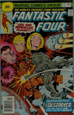 Fantastic Four #172 30c Price Variant July, 1976. Price in Starburst