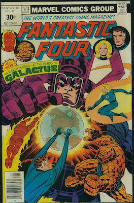 Fantastic Four #173 30c Variation August, 1976. Square Price Box