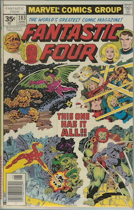 Fantastic Four #183 35 Cent Price Variant