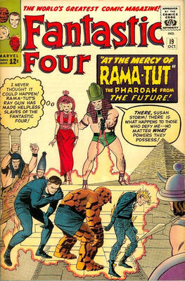 Origin and First Appearance, Pharaoh Rama Tut, Fantastic Four #19, Marvel Comics, 1963. Click for value