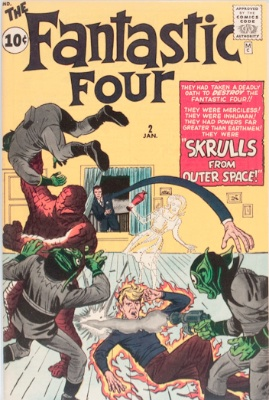 Origin and First Appearance, Skrulls, Fantastic Four #2, Marvel Comics, 1962. Click for value