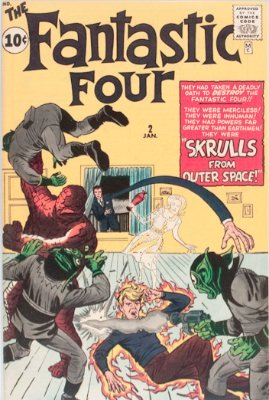 Fantastic Four #2 (Jan 1961): First Appearance, Skrulls, second appearance of FF. Silver Age classic issue. Click for values