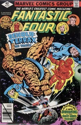 Fantastic Four #211, 1st Terrax the Tamer. Click for values