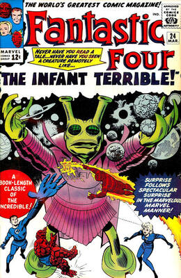Origin and First Appearance, Infant Terrible, Fantastic Four #24, Marvel Comics, 1964. Click for value